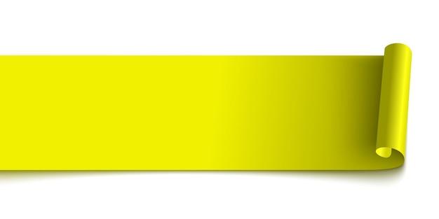 Żółta wstążka zwój papieru