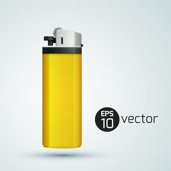 Żółta zapalniczka gazowa