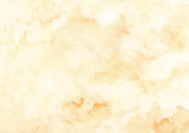 Żółte abstrakcyjne tło tekstury z akwarelą