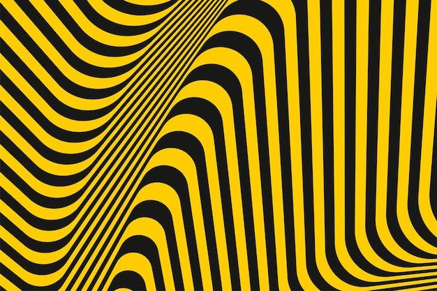 Żółte i ciemnoszare linie w paski wzór w stylu geometrycznym projekt dekoracji tekstury