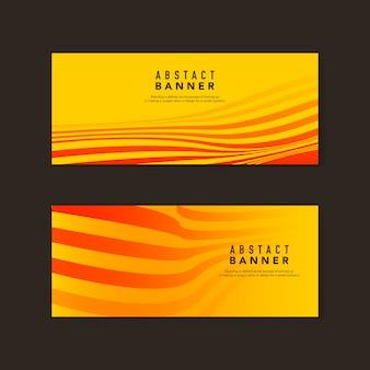 Żółte i pomarańczowe abstrakcyjne transparenty wektory