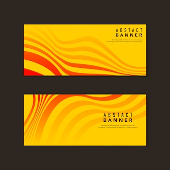 Żółte i pomarańczowe abstrakcyjne wektory banner