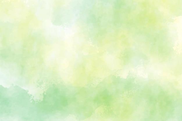 Żółte i zielone tło akwarela na wiosnę