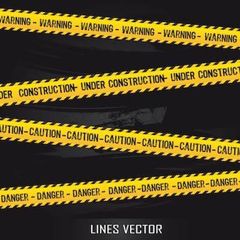Żółte linie na czarnym tle ilustracji wektorowych