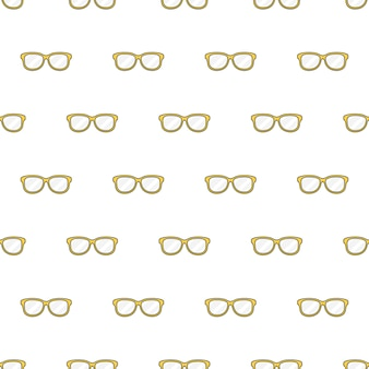 Żółte okulary szwu na białym tle. ilustracja wektorowa motywu okularów