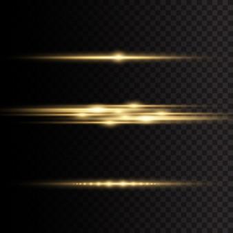 Żółte świecące światło wybucha na przezroczystym tle.