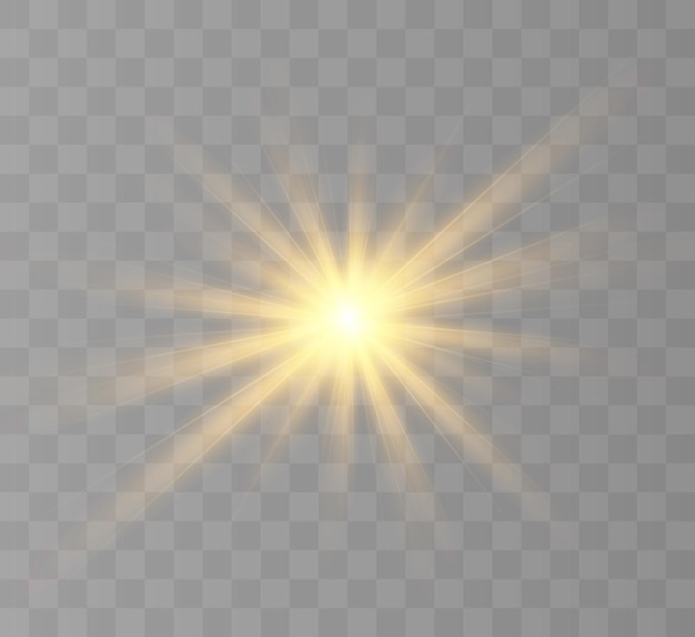 Żółte świecące światło