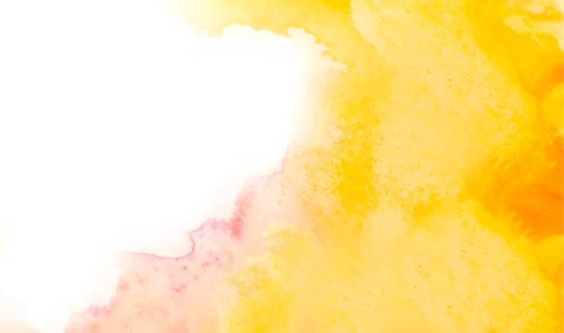 Żółte tło akwarela streszczenie tekstura