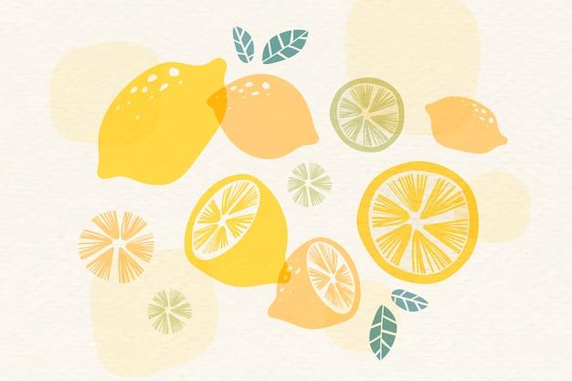 Żółte tło cytryny