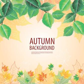 Żółte tło jesienią