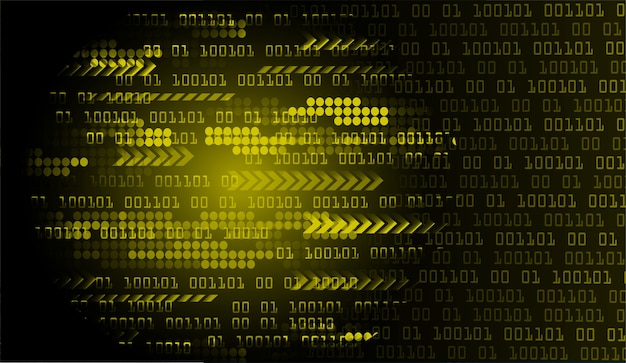Żółte tło koncepcja technologii przyszłości obwodu cyber cyber