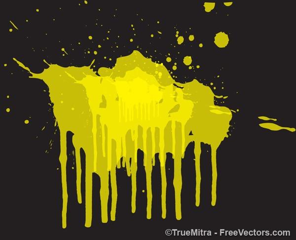 Żółte tło powitalny malarstwo