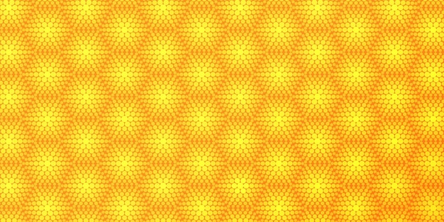 Żółte tło wzór półtonów sześciokątnych