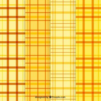 Żółte wzory tartan