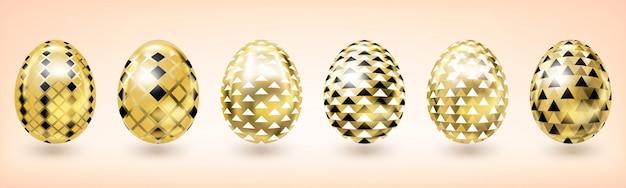 Żółte złoto easter egg z diamentowym wystrojem