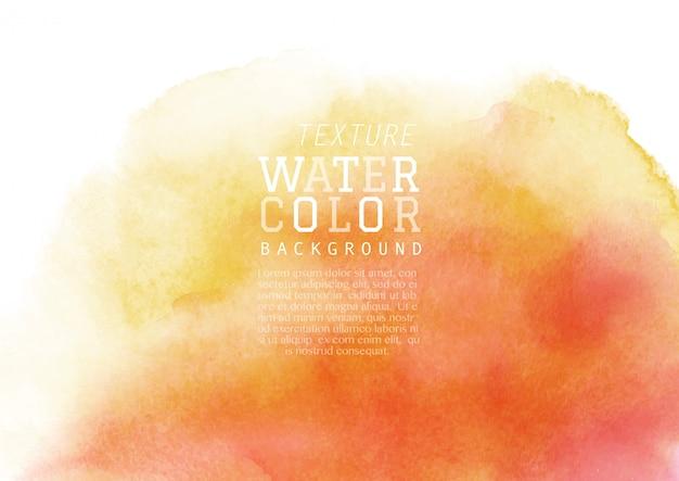 Żółto-pomarańczowy płyn plamy tła akwarela