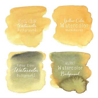 Żółty abstrakcjonistyczny akwareli tło