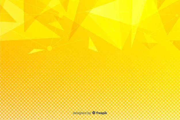 Żółty abstrakcyjne kształty geometryczne tło