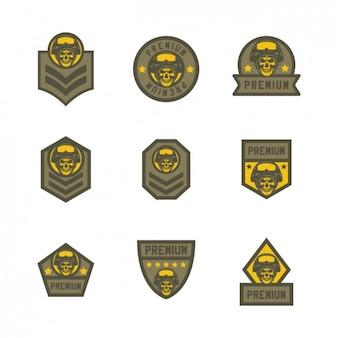 Żółty airsoft logo szablony