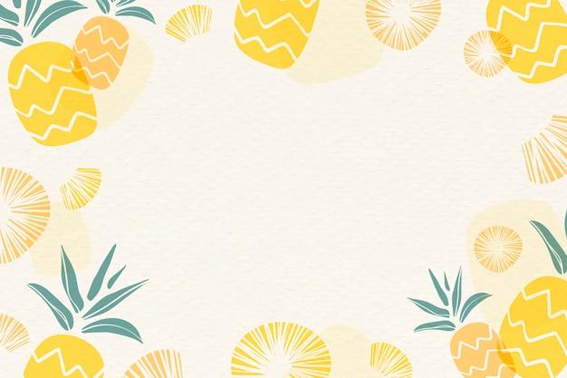 Żółty ananasowy tło