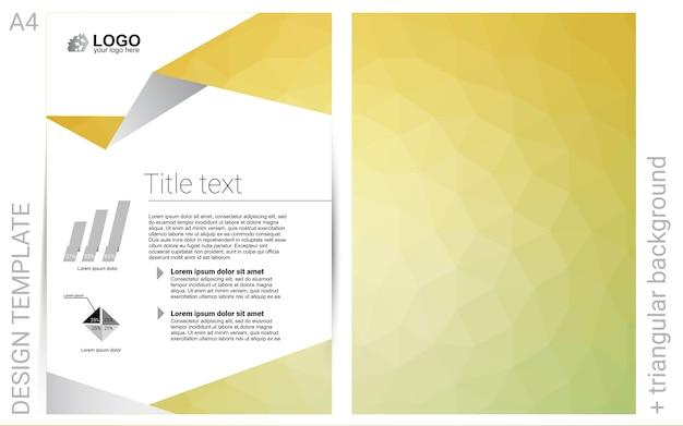 Żółty baner wektor dla stron internetowych
