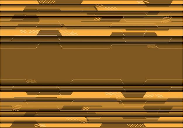 Żółty brzmienie obwód na szarym futurystycznym tle.