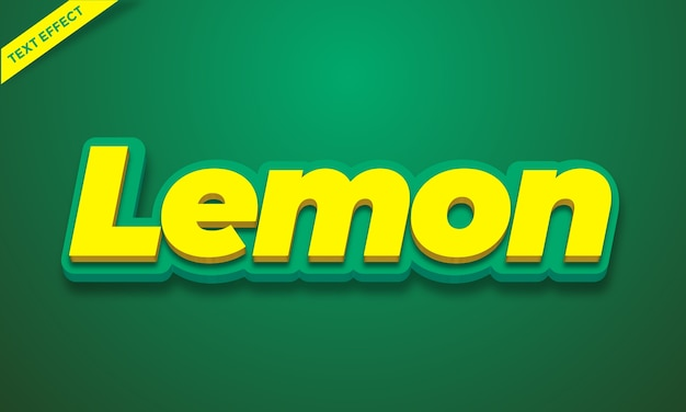 Żółty cytrynowy efekt tekstowy alfabetu 3d lub projekt stylu efektu czcionki