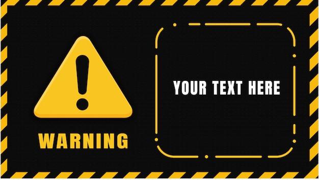 Żółty czarny sygnał ostrzegawczy