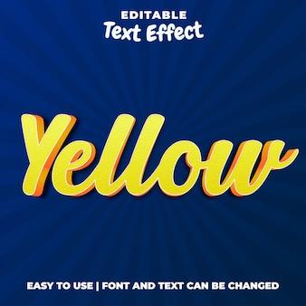 Żółty - edytowalny efekt tekstowy 3d