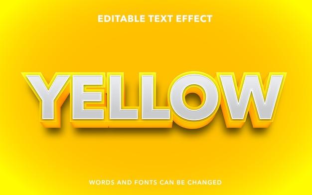 Żółty edytowalny styl efektu tekstu