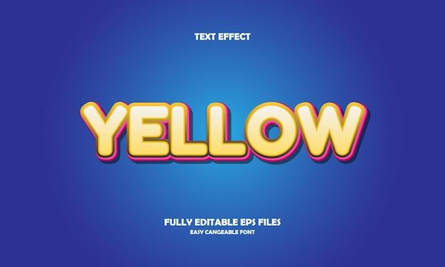 Żółty efekt tekstowy