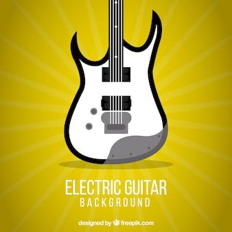Żółty gitara elektryczna tła