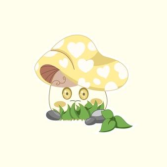 Żółty grzyb
