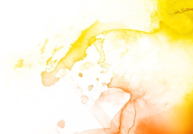 Żółty i pomarańczowy akwareli tekstury abstrakta tło