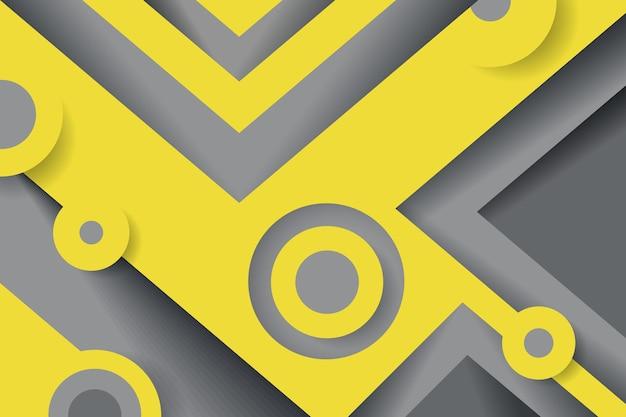 Żółty i szary w tle w stylu papieru