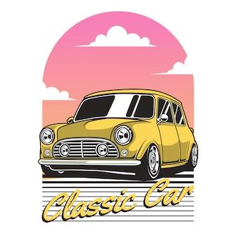 Żółty klasyczny samochód