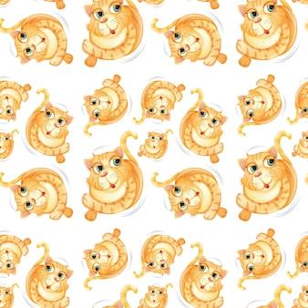 Żółty kot wzór