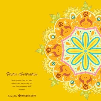 Żółty kwiatowy wektor szablon