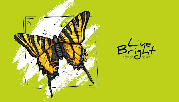 Żółty motyl.