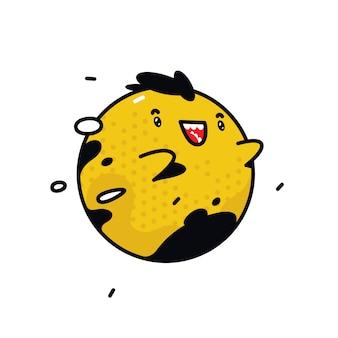 Żółty okrągły charakter potwora