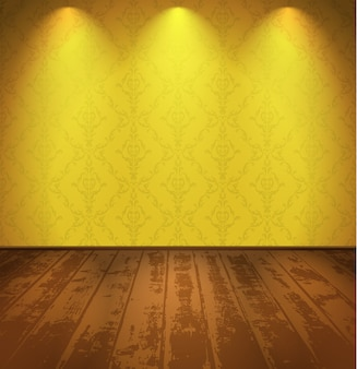 Żółty pokój vintage