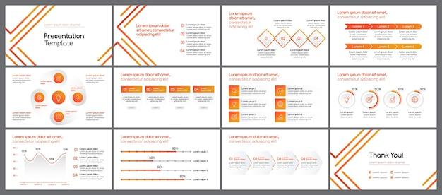 Żółty pomarańczowy minimalistyczny szablon prezentacji biznesowych