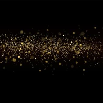 Żółty pył, żółte iskry i złote gwiazdy świecą specjalnym światłem