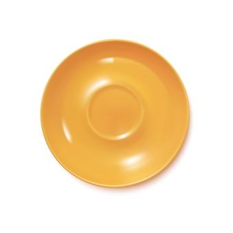 Żółty realistyczny talerz