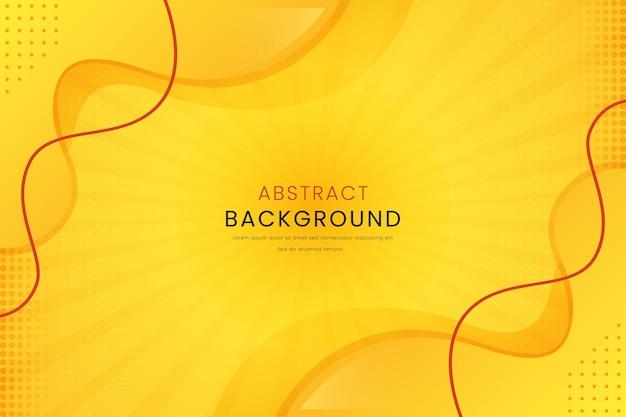 Żółty streszczenie z linii gradientowe tło