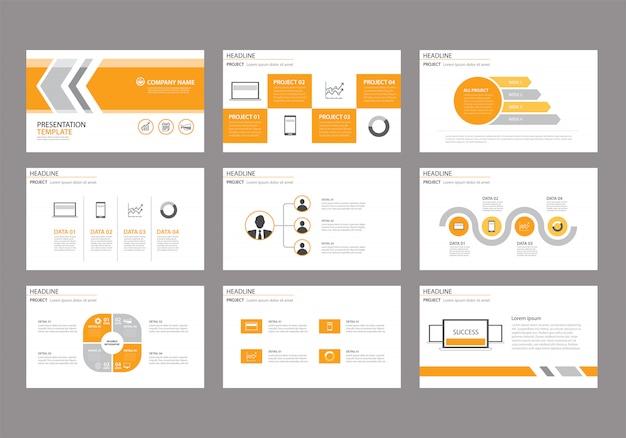 Żółty szablon do prezentacji slajdów na tle.