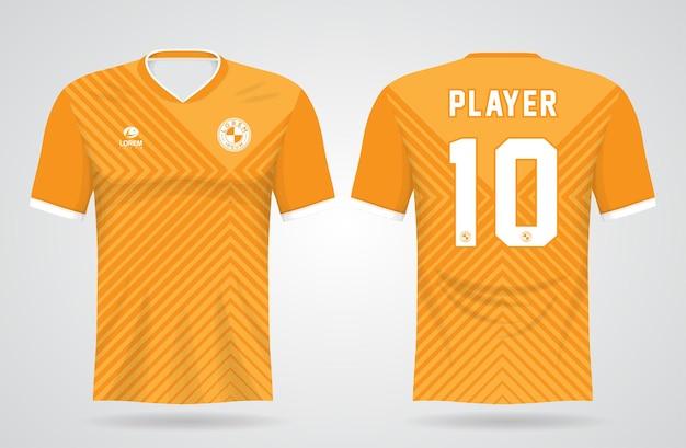 Żółty szablon koszulki sportowej dla mundurów drużynowych i projektu koszulki piłkarskiej