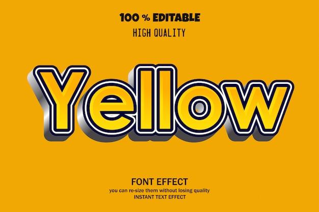 Żółty tekst, edytowalny efekt czcionki