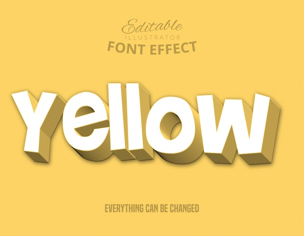 Żółty tekst, edytowalny styl tekstu