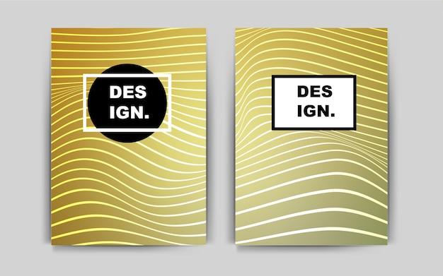 Żółty wektor wzór dla plakatów